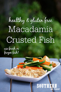 Healthy Macadamia Crusted Baked Fish Recipe