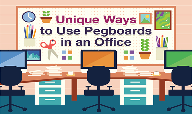 ONLY WAYS IN THE OFFICE PEGBOARDS  #INFOGRAPHIC