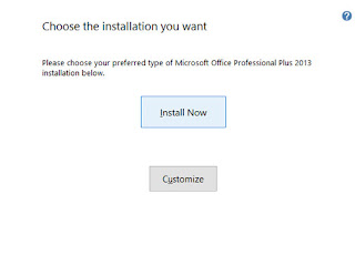 Select install now ms office