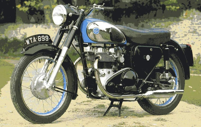 AJS Model 30 1950s British classic motorcycle