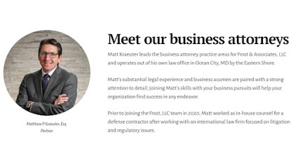 Business Contract Attorney | Frost Law: Matthew P. Kraeuter Business Attorney