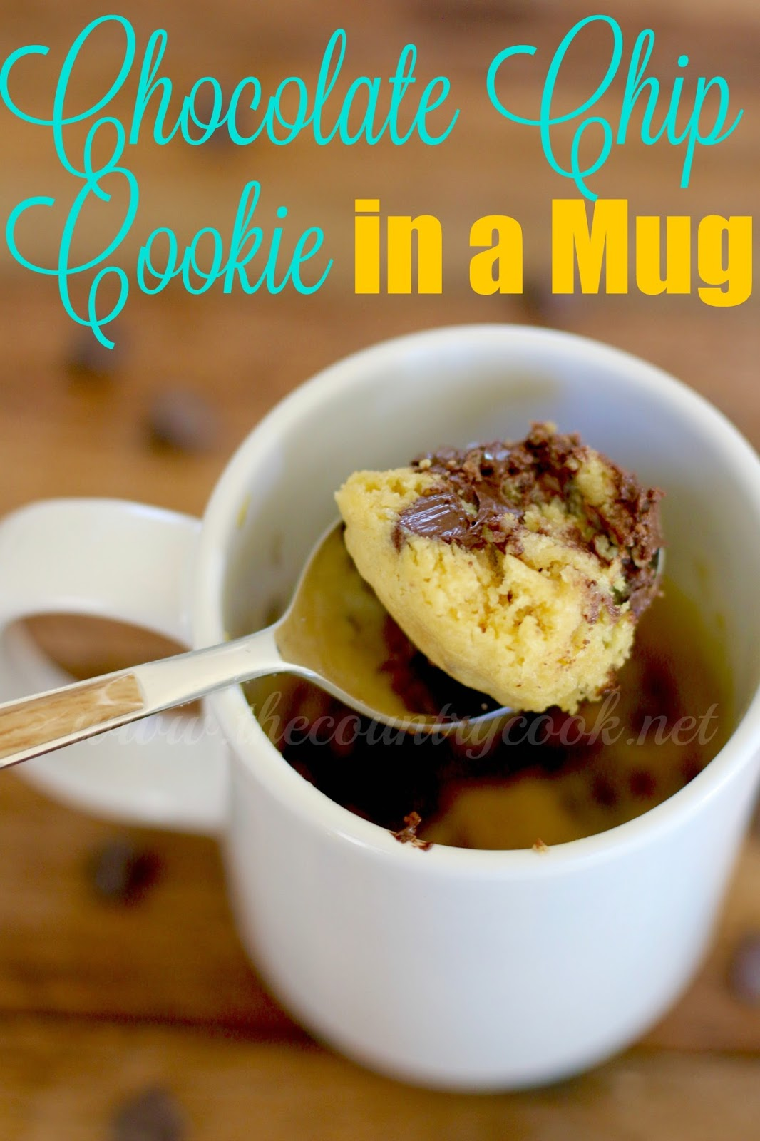 Chocolate Chip Cookie in a Mug - The Country Cook