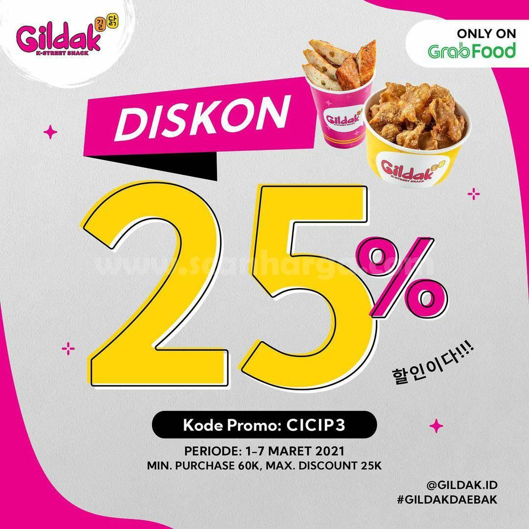 GILDAK Promo DISKON 25% Only On GRABFOOD