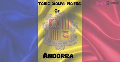 Tonic Solfa: Andorra Anthem Solfas Notes.