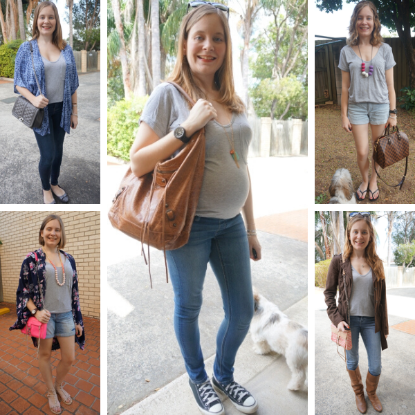 5 ways to wear a grey tee and blue denim | awayfromtheblue