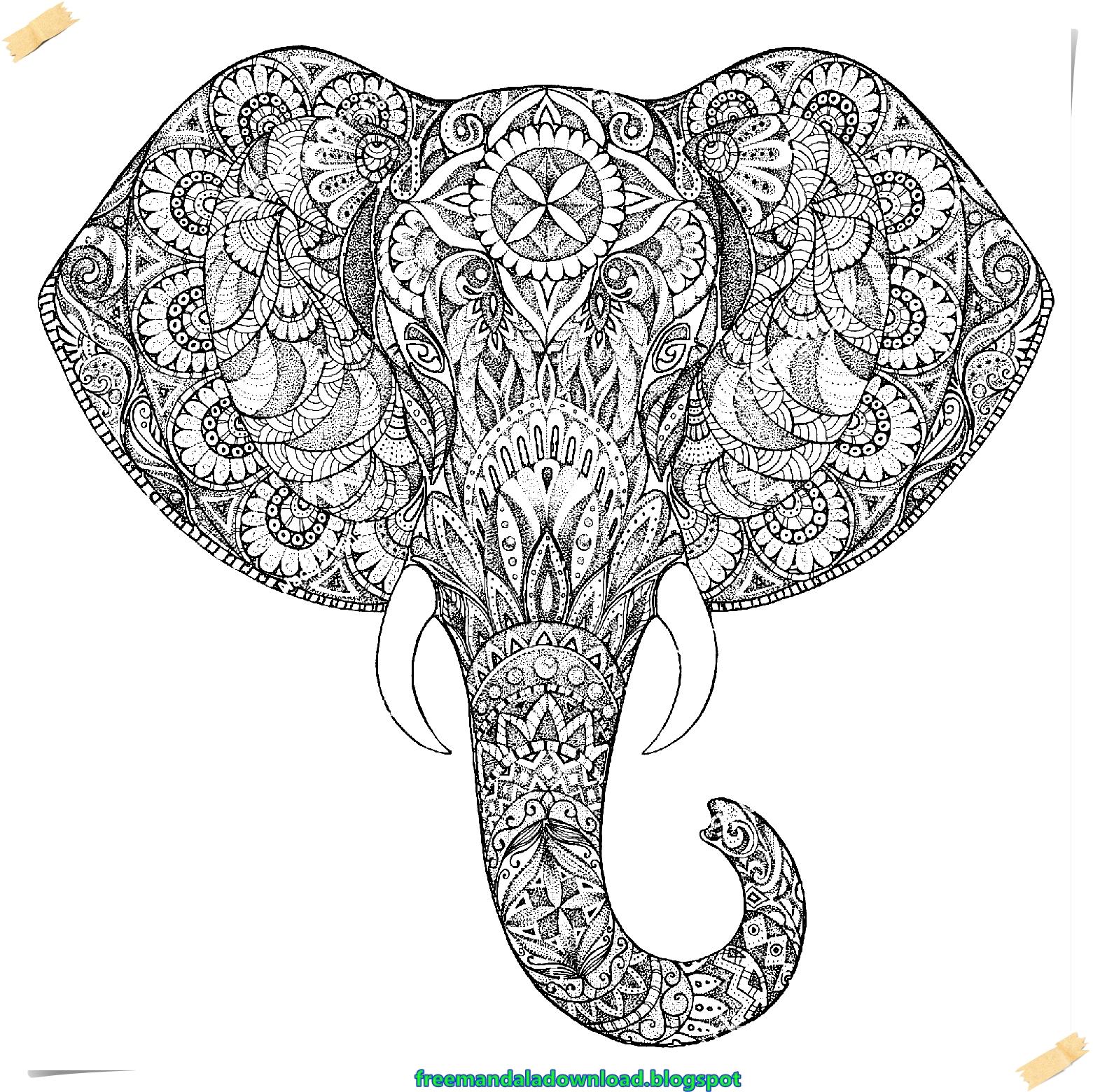Mandala Elefant Gekritzelart Mandala Elephant Doodle Style