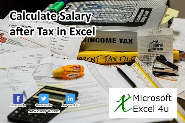 Calculate Salary after Tax in Excel