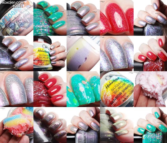 xoxoJen's swatch of Polish Pickup: Rainbows
