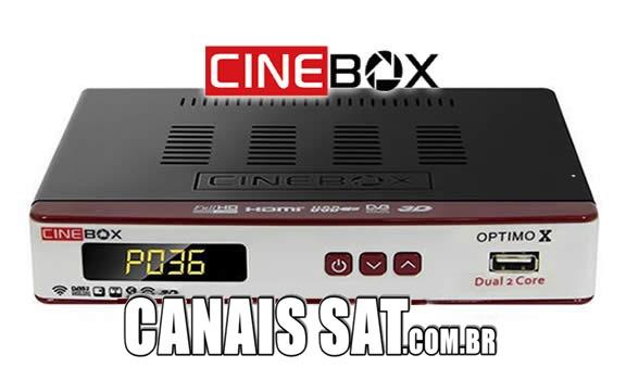 Cinebox Optimo X Dual Core Atualização - 31/05/2021