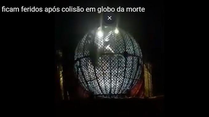 Irmãos colidem motos dentro do Globo da Morte; Veja o vídeo