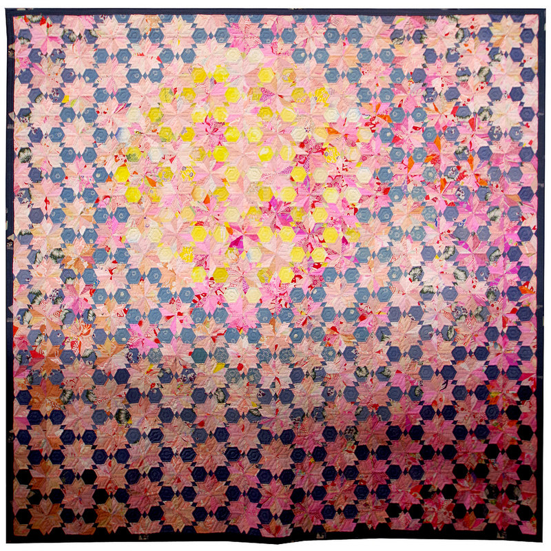 Tokyo International Quilt Festival 2018 | Cherry Blossoms in the Moonlight by Sachiko Yoshida | © Red Pepper Quilts