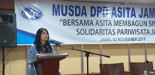 Ketua DPP ASITA Secara Resmi Membuka Musda DPD ASITA Jambi Ke-VI .