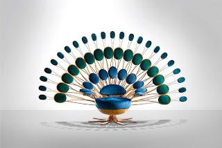 Кресло «Павлин» – воплощение красоты и оригинальности в совместной работе Марка Энжа и Visionnaire.