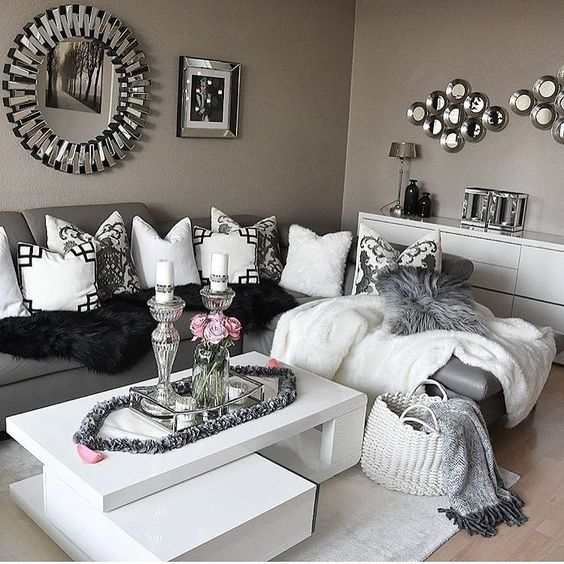 Nina aggelou for Silver grey living room ideas