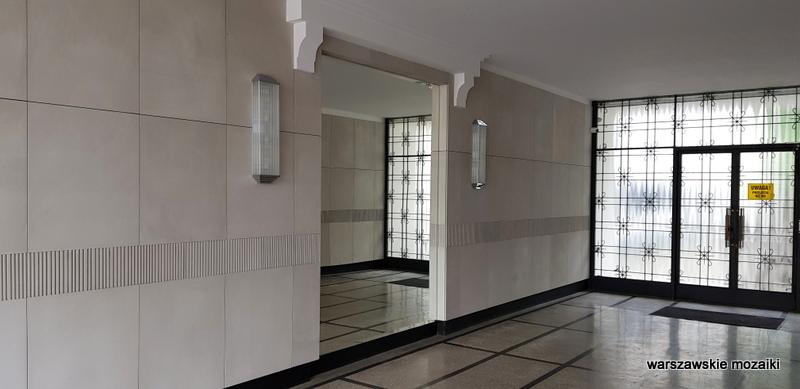 klatka schodowa lustro Warszawa Warsaw modernizm art deco architektura sułkowski Horacy Heller KGMO architecture