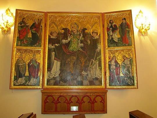 XV-wieczny tryptyk św. Mikołaja.