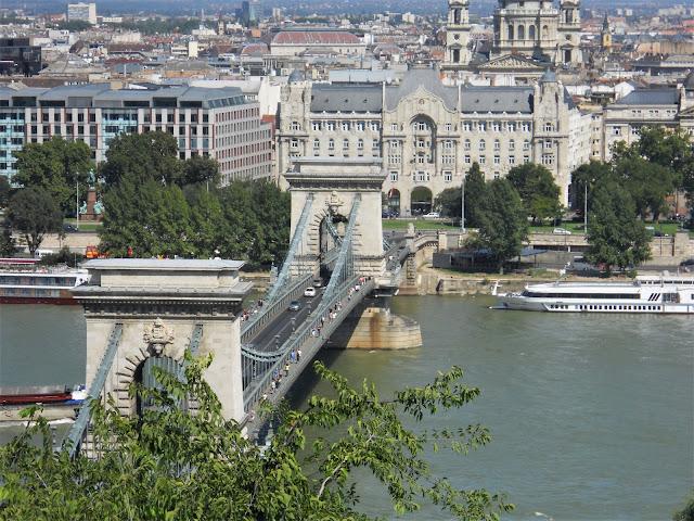 Ponte delle catene sul fiume Danubio a Budapest