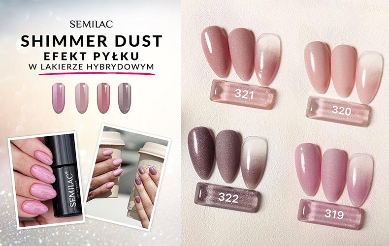 semilac shimmer dust
