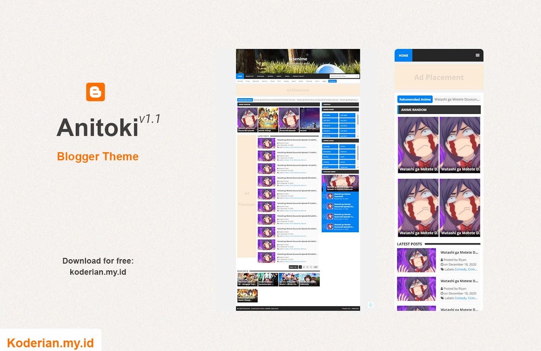 Anitoki Free Blogger Theme