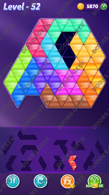 Block! Triangle Puzzle Grandmaster Level 52 Solution, Cheats, Walkthrough for Android, iPhone, iPad and iPod