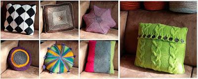 Naturalmente lanas cojines para el sof tejidos a ganchillo o a dos agujas - Cojines de lana ...