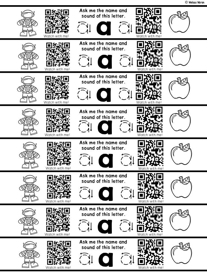 Ms. Moran's Kindergarten: Alphabet QR Code Bracelets