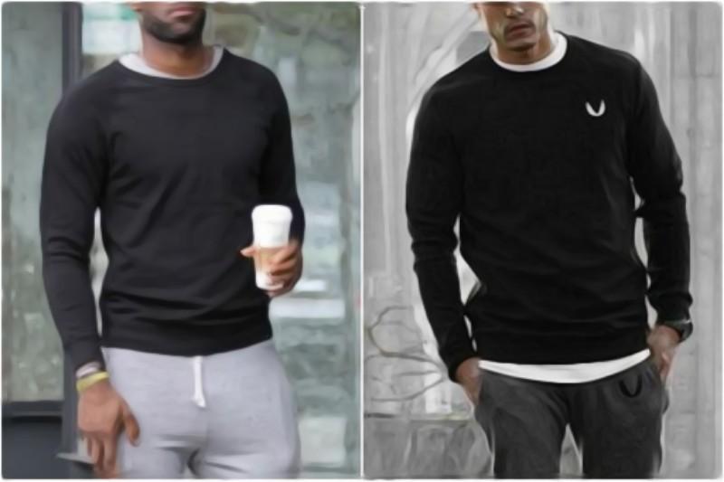 Black color sweatshirts.