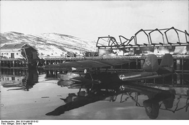 Luftwaffe Do 24 seaplane during Battle of Narvik 1940 worldwartwo.filminspector.com