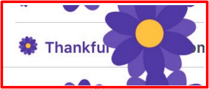 Facebook Thankful Flower