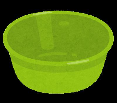 洗面器のイラスト