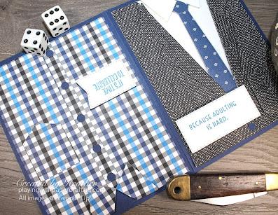 mullet card with suit & ties dies 1o