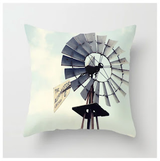 Windmill Throw Pillow by Erin Johnson