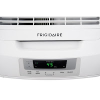 Top-mounted control panel with digital humidity readout, on Frigidaire FAD704DWD and FAD504DWD dehumidifiers
