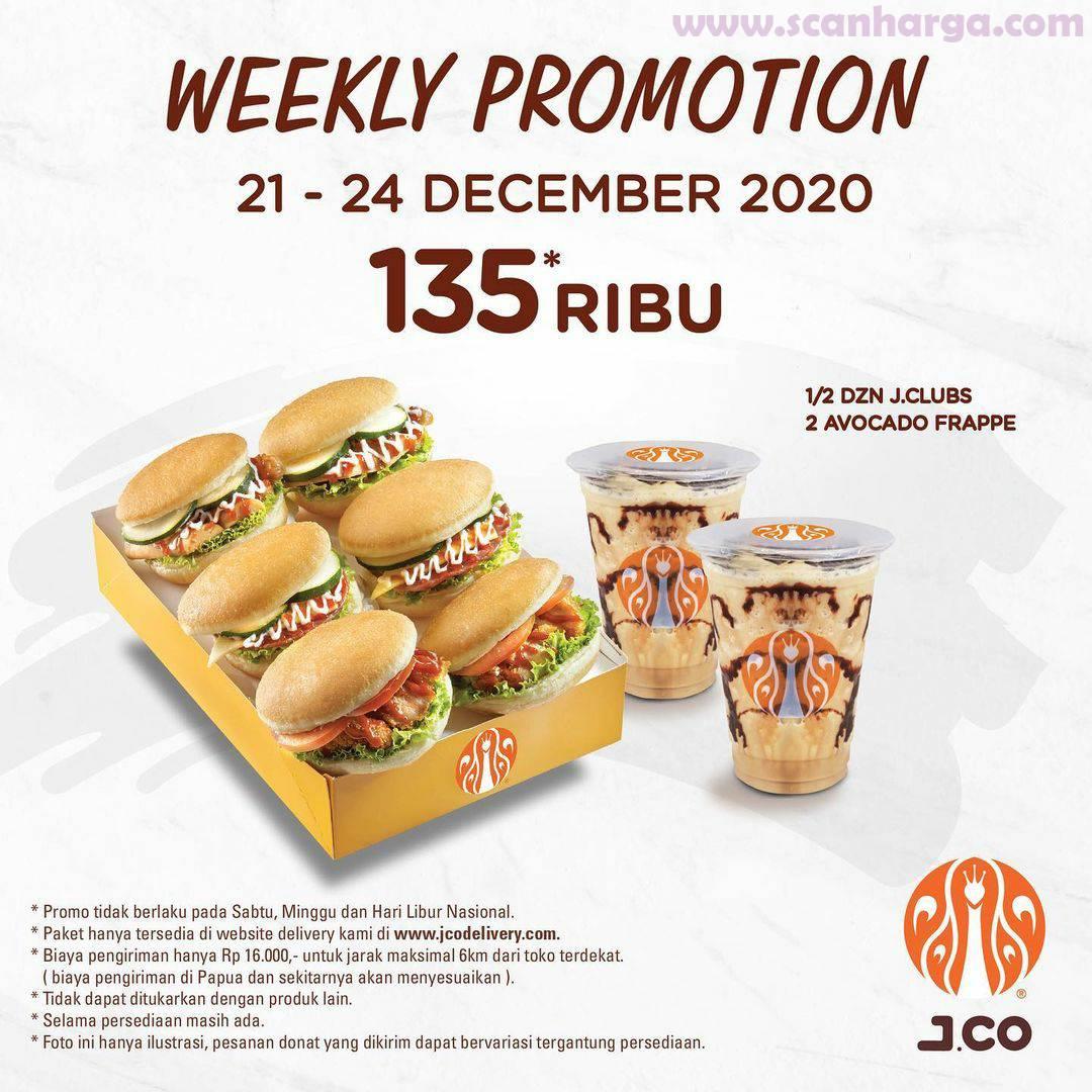Promo Early Jco Weekly Promotion: Harga Spesial Paket JCLUB & Minuman