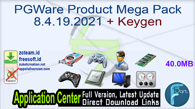 PGWare Utilities Mega Pack 8.4.19.2021 + Keygen_ ZcTeam.id
