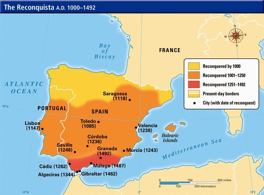 Mapa De La Peninsula.Historioseando La Reconquista Mapas