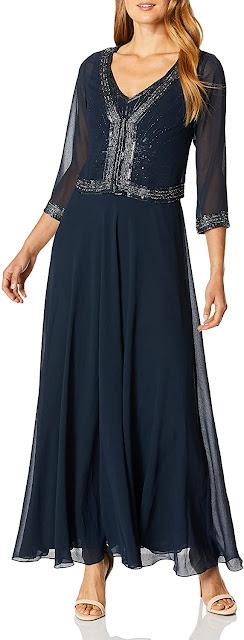 Elegant Navy Blue Mother of The Bride Dresses