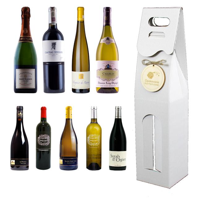 Pudełko opakowanie na francuskie wino