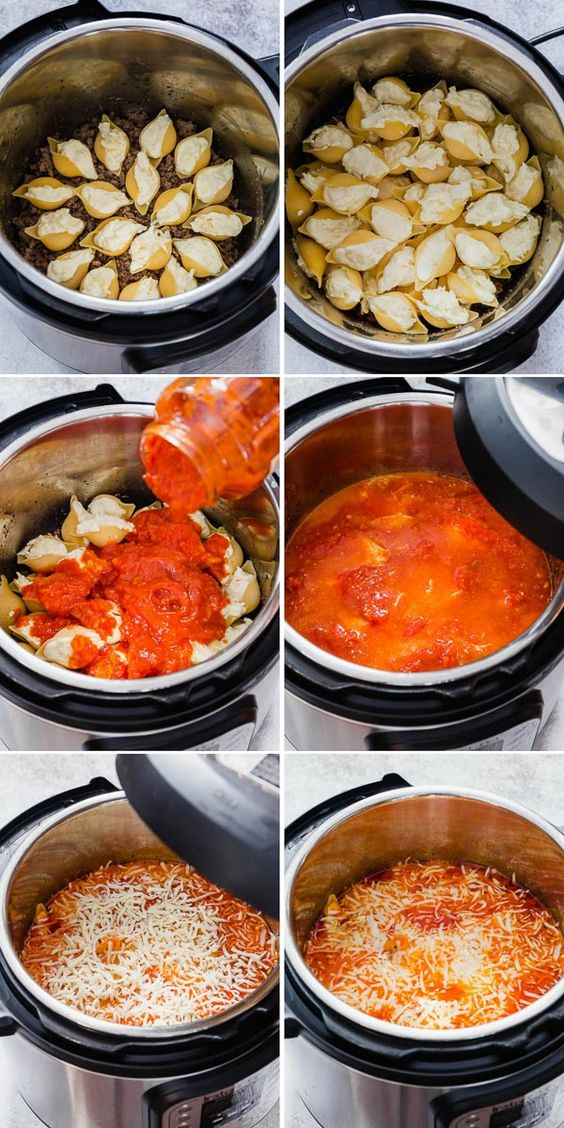 INSTANT POT STUFFED SHELLS WITH MEAT SAUCE #recipes #thingstocookforsupper #food #foodporn #healthy #yummy #instafood #foodie #delicious #dinner #breakfast #dessert #yum #lunch #vegan #cake #eatclean #homemade #diet #healthyfood #cleaneating #foodstagram