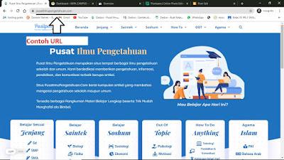 Contoh URL Website Pusat Ilmu Pengetahuan