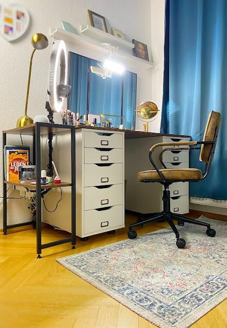 IKEA Alex DIY Deko Schminktisch Vintage Industriedesign Shabby Industrial