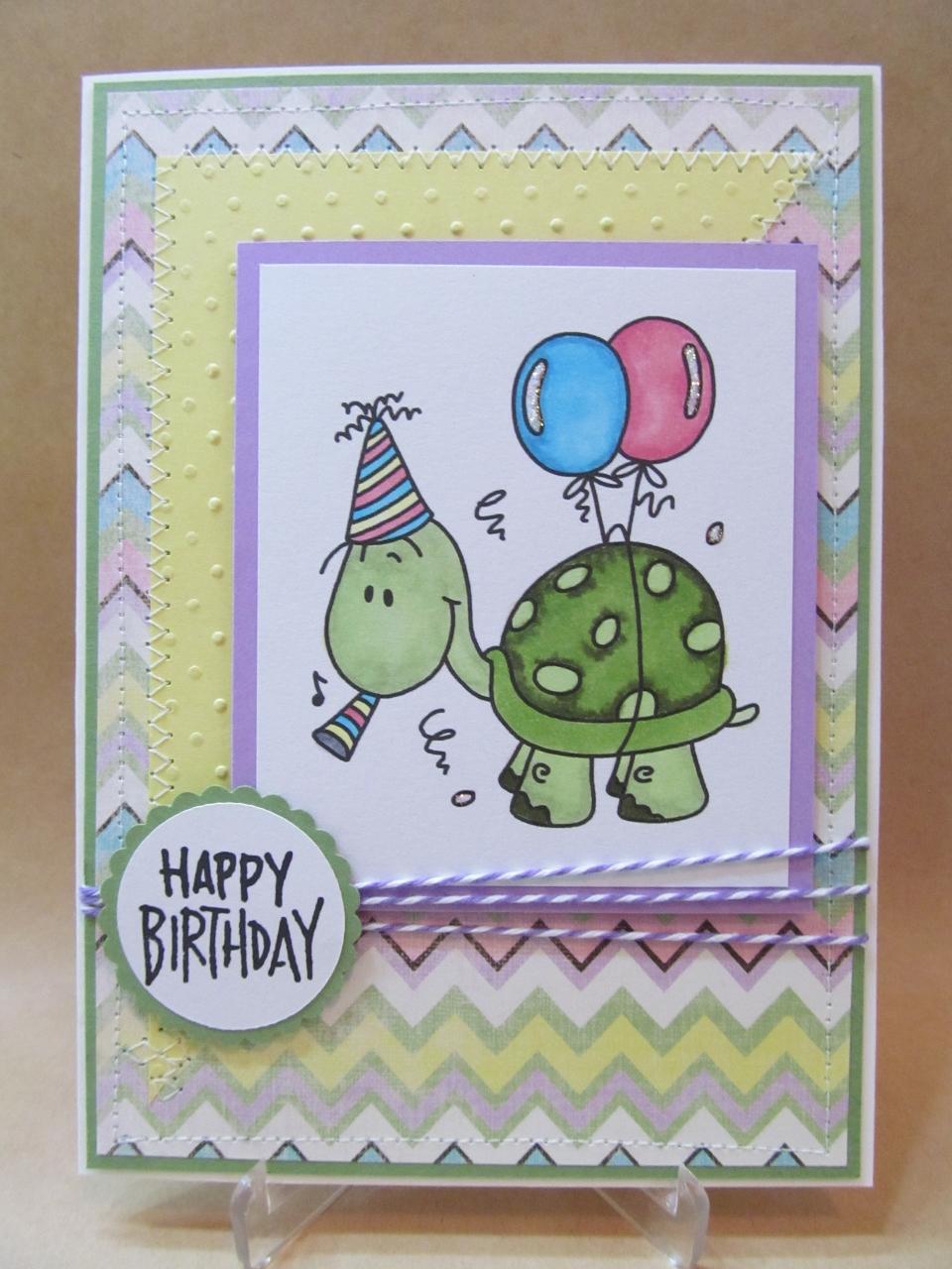 Savvy Handmade Cards: Turtle Happy Birthday Card