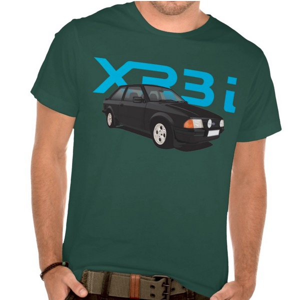 Ford, escort, mk3, xr3i, 80's, t-shirt