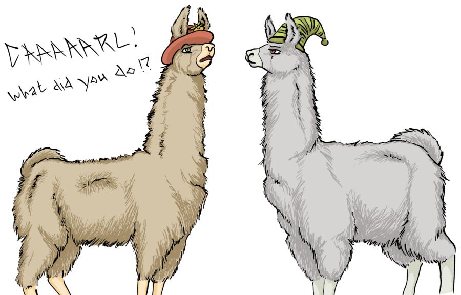 Llamas Carl And Paul Hats
