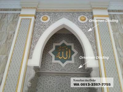 ornamen mihrab masjid, wa 0813-3387-7755