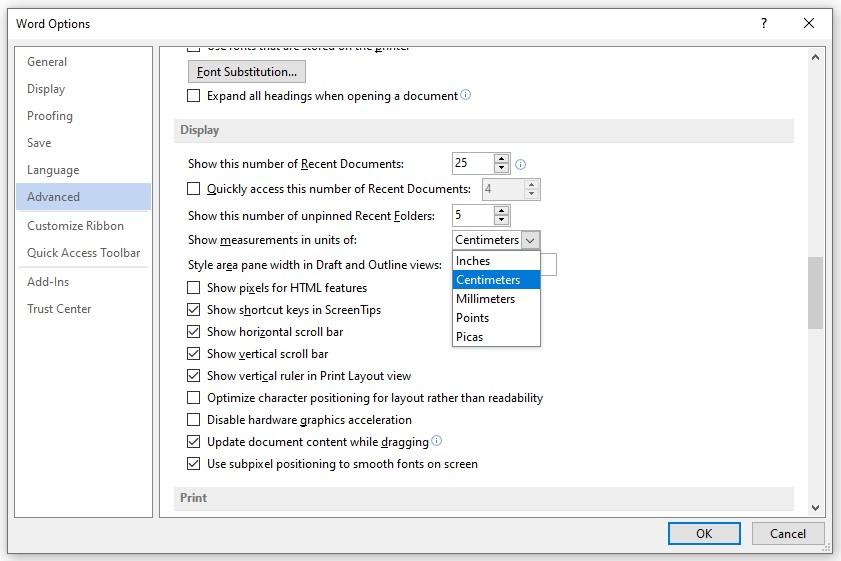 Word Options pada Microsoft Word