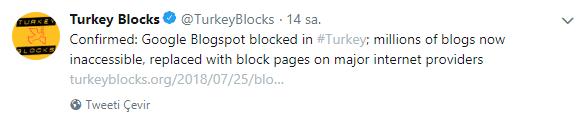 24.07.2018 Blogspot erişim yasağı
