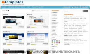 Blogger Templates By Btemplates A Largest Template Directory With Various Categories