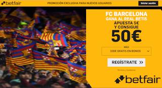 betfair supercuota Betis v Barcelona 9-2-2020