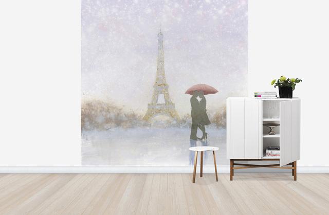 Pariisi Tapetti Romanttinen Eiffel-torni